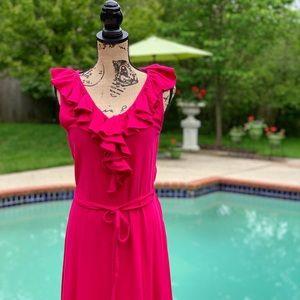 Ralph Lauren Ruffle-Front Dress, M